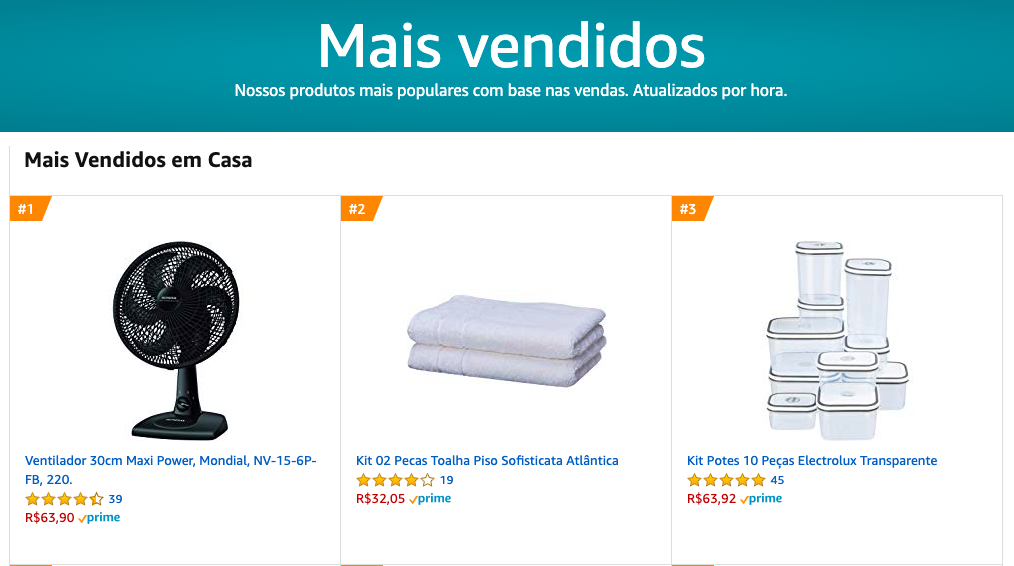 Amazon Brazil top-selling home items