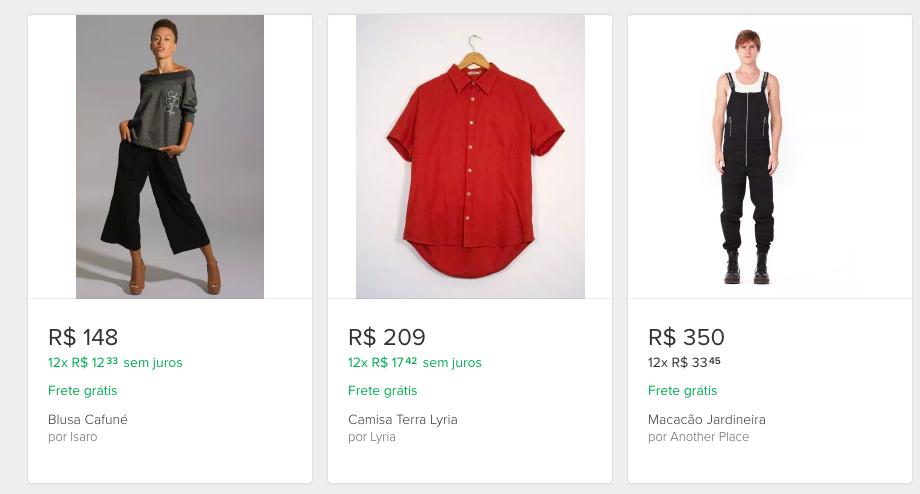 e-commerce mercadolivre clothing items