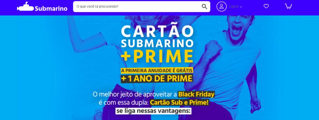 e-commerce Submarino Prime screenshot