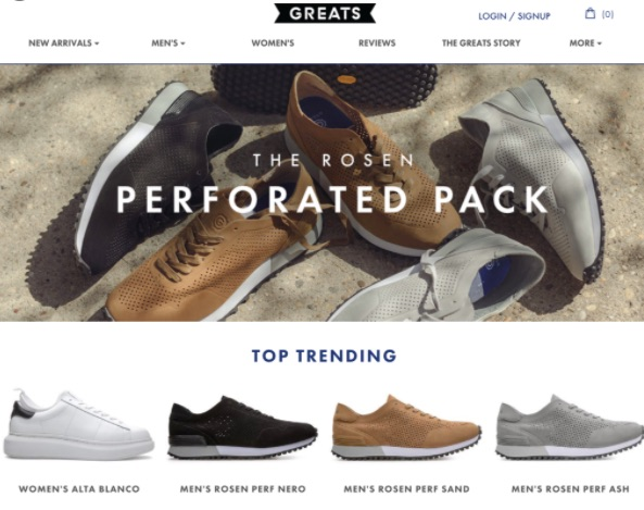 One reason it is important for businesses to have an online presence is it makes it easier for businesses to showcase their products easily. The image shows an example of a website that showcases its products well.